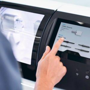 Einfache Bedienung der Primemill am Touch Interface